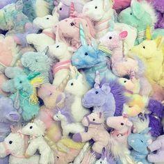 Peluches de unicornios
