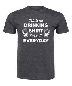 Heather Charcoal 'This Is My Drinking Shirt' Tee - Men's Regular #zulily #zulilyfinds