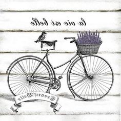 French Vintage Bicycle Large Instant Digital by CreatifBelle Decoupage Vintage, Vintage Diy, Images Vintage, Vintage Labels, Vintage Signs, French Vintage, Vintage Clocks, Foto Transfer, Transfer Paper