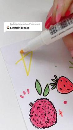 Cool Paintings, Cool Artwork, Amazing Artwork, Bullet Journal Aesthetic, Bullet Journal Writing, Fruit Doodle, Art Education Resources, Fruits Drawing, Fruit Illustration