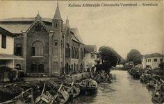 """""""Kalimas Achterzijde Chineesche Voorstraat - Soerabaia"""" 1906-1918 (Collections KITLV)"""