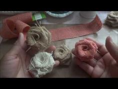 Burlap flower tutorial - youtube