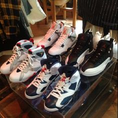 Jordans  Cement III's  Playoff XII' Olympic VI's Olympic VII's