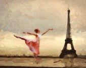 Paris Decor poster Vintage  artwork   Mixed Media  art   on canvas - ivory and sepia . by Artistico Handmade Wall Decor. $33.00, via Etsy.