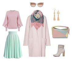 Pastel by irina-semenkova on Polyvore featuring мода, Ted Baker, By Malene Birger, Chicwish, Chinese Laundry, Loewe, Coach and Jimmy Choo