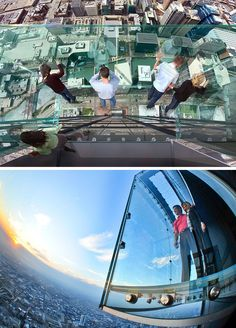 17 Tourist Activities That Would Be A Nightmare For People With A Fear Of Heights // Skydeck – Chicago, Illinois