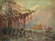 Robert Antoine Pinchon - Promenade en bord de seine