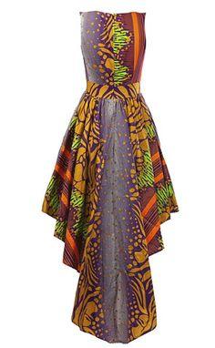 Louisa African print maxi dress - OHEMA OHENE AFRICAN INSPIRED FASHION - 2