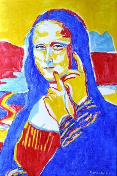 """Nancy Rourke's """"Deaf Mona Lisa v.5"""""""