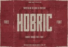 Hobric Rough free font