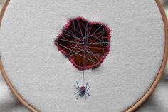 Adam Pritchett is an embroidery artist based in Lake District, England, a countryside famous for its forests, lakes, and mountains. From these bucolic surroundings he draws inspiration for his minimalist botanical embroideries that usually feature flowers, vines, and tiny insect inhabitants. For a p