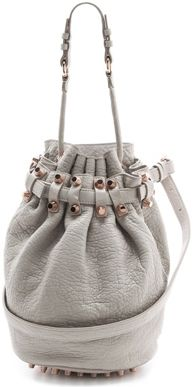 Alexander Wang Diego Bucket Bag with Rose Golden Hardware in Lilac