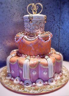 Indian Weddings Inspirations. Pink wedding cake. Repinned by #indianweddingsmag | http://wedding.lemoncoin.org