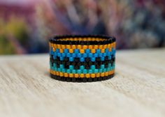 PEYOTE RING  Wild Southwest by PeyoteRings on Etsy                                                                                                                                                                                 More
