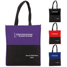 "Multi Pocket Non-Woven Tote 15537 - Multi Pocket Non-Woven Tote with large open main compartment. Two large front slip pockets. Two business card slit pockets. Front pen pocket. Shoulder length handles. Option for two front imprint areas. Free 24 Hour Service. Product Size: 14-1/8""w x 16-3/4""h x 2-1/5""d. #propelpromo"
