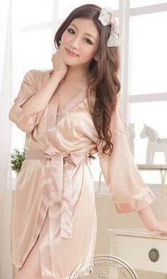 Sexy Large Size Sexy Satin Night Robe Lace Bathrobe Perfect Wedding Bride  Bridesmaid Robes Dressing Gown For Women ba40b4580