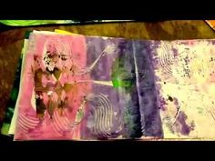 Art journal pages from Gelli Plate prints. - YouTube
