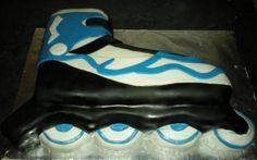 Rollerblade cake idea for Jadon & Adam