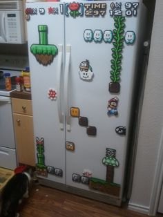 perler on fridge - Google zoeken