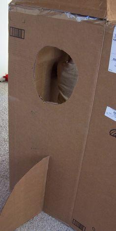 DIY Cardboard Rocket - Create in the Chaos Cardboard Rocket, Large Cardboard Boxes, Cardboard Crafts, Space Crafts For Kids, Art For Kids, Preschool Science, Preschool Crafts, Art Activities, Toddler Activities