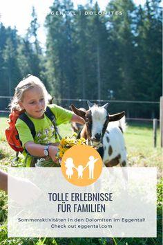 Familienurlaub in den Bergen schon gebucht? Ein tolles Familienprogramm wartet im Eggental darauf von Groß und Klein erlebt zu werden.