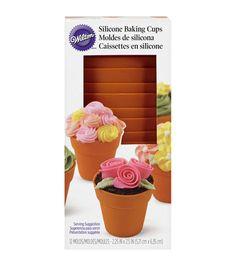 Wilton Silicone Flower Pots 12/Pkg