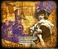 Imágenes vintage gratis / Free vintage images: Wallpaper. Viajes