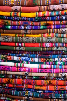 Latin American textiles are insanely gorgeous and take me back to my summer spent in Guatemala in an instant. These are from Peru.