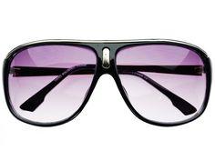 Stylish Retro Aviator Sunglasses Black A701