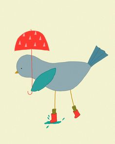 Illustration Art Print  art de dessin  Art Bird  Kids par dazeychic