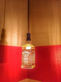 Jack Daniels Liquor Bottle Pendant Light