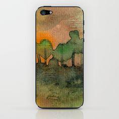 The Woods II Orange iPhone & iPod Skin by Marina Kanavaki - $15.00