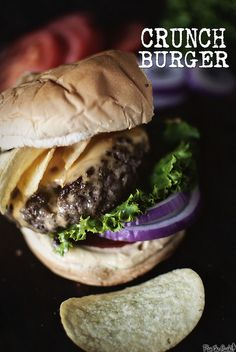 Crunch Burger with horseradish sauce inspired by Bobby Flay | PasstheSushi.com