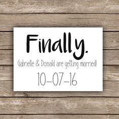 Printable funny save the date - finally, save the date invitation, simple wedding invitation, typography