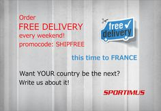 Free sportswear delivery to France