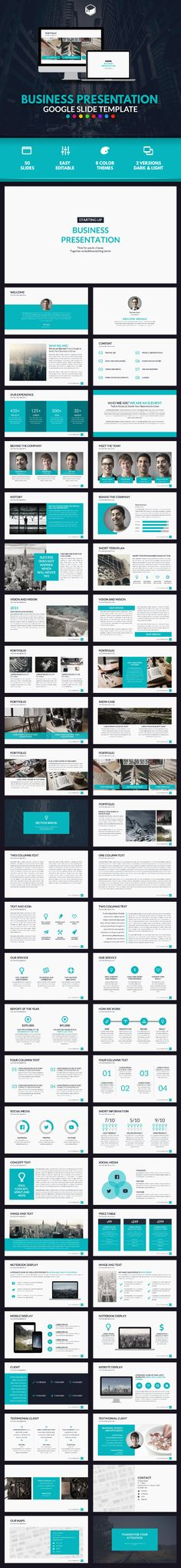 Business Presentation Google Slides Template #design Download: http://graphicriver.net/item/business-presentation-google-slide-template/13610801?ref=ksioks