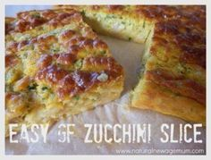 Easy GF Zucchini Slice for the Thermomix. A favourite from the eighties - made healthy and quick in the thermomix! Perfect for an easy dinner or lunchboxes. Lunch Box Recipes, Whole Food Recipes, Lunchbox Ideas, Dinner Recipes, Lentil Recipes, Vegan Recipes Easy, Free Recipes, Vegetarian Recipes, Easy Zucchini Slice