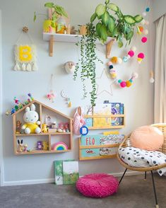 Colourful kids room decor