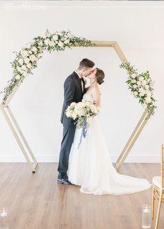Dusty blue wedding theme | ElegantWedding.ca Wedding Ceremony Arch, Wedding Altars, Winter Wedding Arch, Summer Wedding, Popular Wedding Colors, Dusty Blue Weddings, Timeless Wedding, Wedding Color Schemes, Floral Wedding