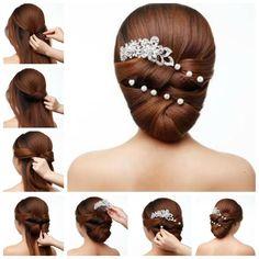 DIY Elegant Bridal Hairstyle | iCreativeIdeas.com Follow Us on Facebook --> https://www.facebook.com/iCreativeIdeas