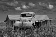 Vintage Black and White Photography | ... Nyhof › Portfolio › Black & White Photo of a Vintage Dodge Truck