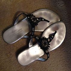 Donald J Pliner Jewled Sandals Size-8 1/2