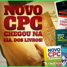 """#Promoção O novo """"CPC"""" já chegou por aqui! ;-) O Código de Processo Civil já está disponível para você. Adquira já o seu! :-D O Prof. Horácio recomenda. 8-) Vem com a Cia., turma!!! -> http://goo.gl/KnLbIK"""