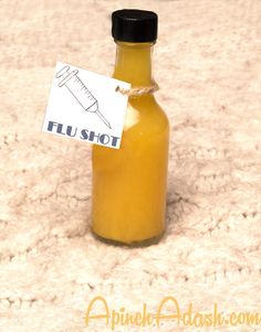 "Cure your cold or prevent one by drinking my homemade, all natural flu ""shot"". Works every time!! Amazing immunity booster."