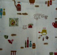I love this cute 'kitchen/cooking' icon Japanese Fabric.
