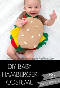 DIY Baby Hamburger costume