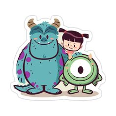 Cute Monsters Inc Sticker by Pipstikis