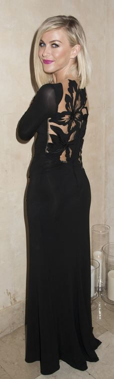 Julianne Hough: Dress – Zuhair Murad  Shoes – Nicholas Kirkwood  jewelry – Monika Viander  Purse – Edie Parker
