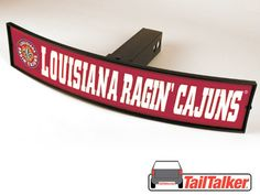 Louisiana Ragin' Cajuns Trailer Hitch Cover by tailtalker on Etsy