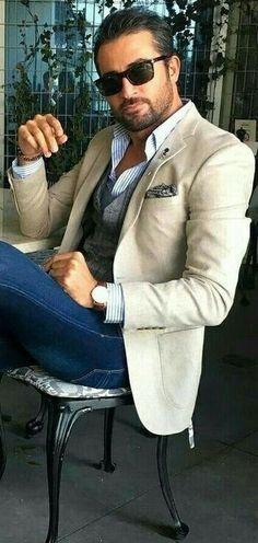 Mens Fashion Smart – The World of Mens Fashion Terno Casual, Mode Man, Mens Fashion Blazer, Herren Outfit, Mens Clothing Styles, Men's Clothing, Street Clothing, Sharp Dressed Man, Gentleman Style
